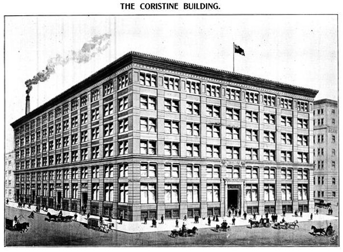 The Coristine Building, as illlustrated in The Book of Montreal (1903, Chambers, EJ)